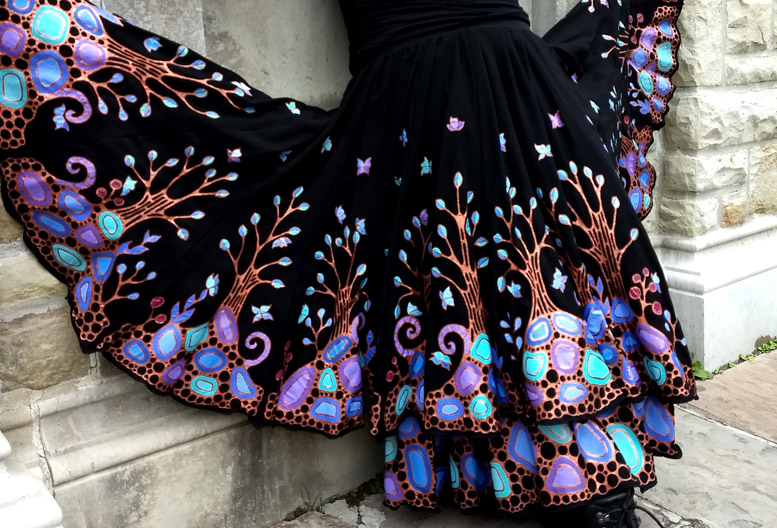 Autumn Love: Brona Wingell's hand-painted, handmade skirts