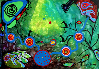 Sounding (1979) Norval Morrisseau and Ritchie Sinclair